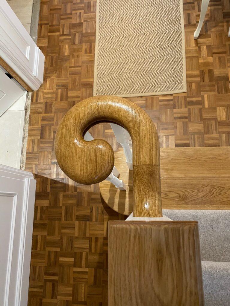 Bespoke Oak Staircase – Silsoe © Oak Hill Joinery Ltd