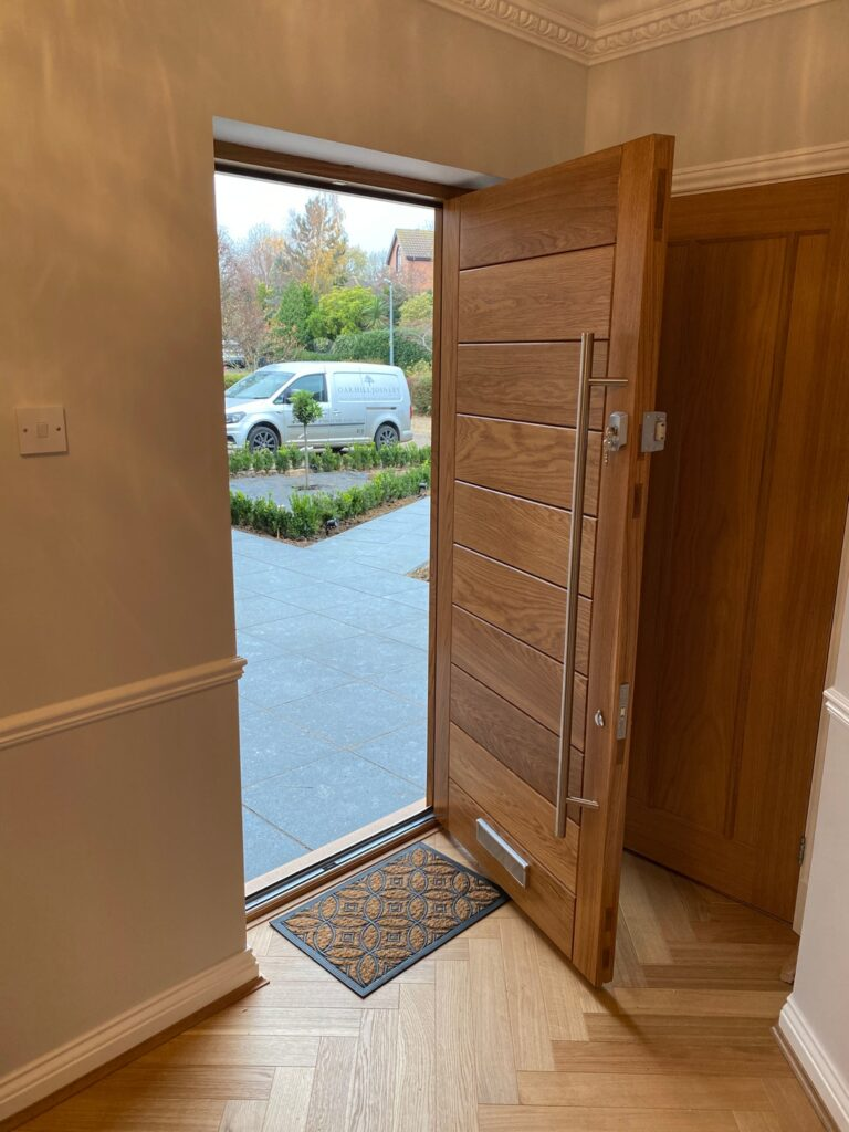European Oak Front Door - Flitton © Oak Hill Joinery Ltd