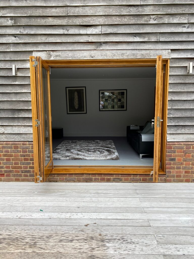 European Oak Bi-Fold Doors - Doors © Oak Hill Joinery Ltd